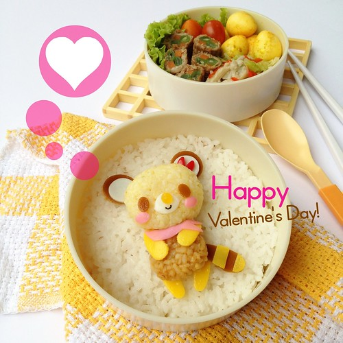 Tenorikuma Bento - Happy Valentine's Day! | by Bentolicious
