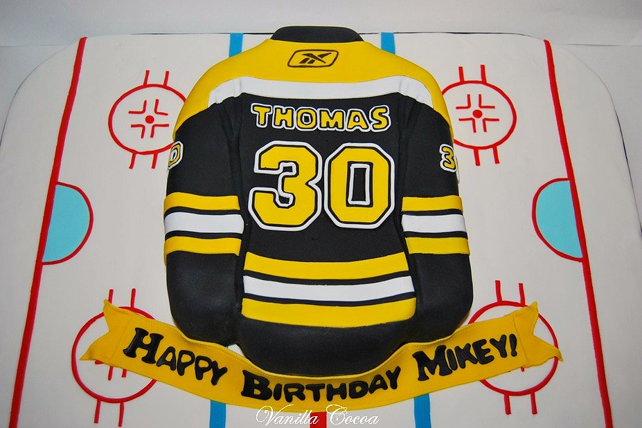 Boston Bruins Jersey Cake