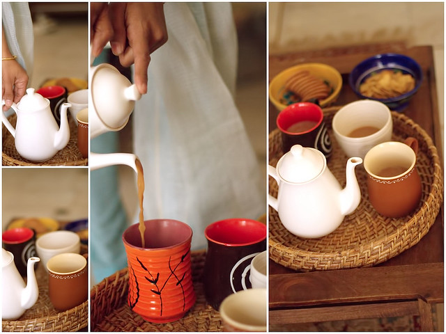 Her pots, mugs, colourful ware and polished wooden chests, trays..and more