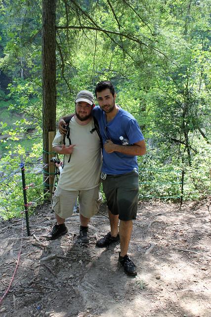 Chuck Sutherland, Rami Ayoub, Cummins Falls area, Jackson Co, TN