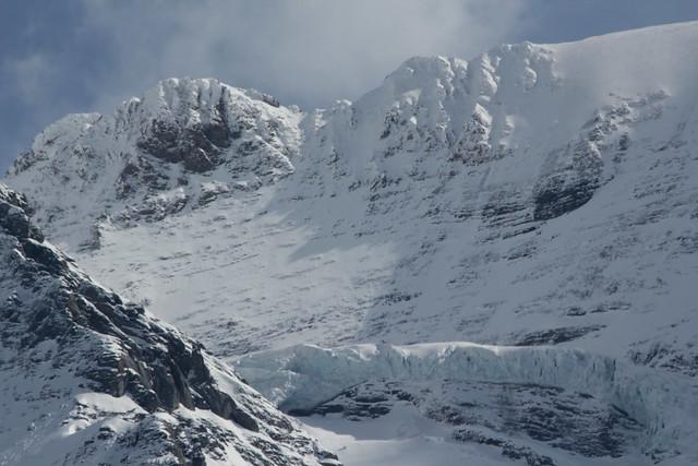 Eigergletscher ( Gletscher / Glacier ) und Eigerjöcher im Berner Oberland im Kanton Bern in der Schweiz