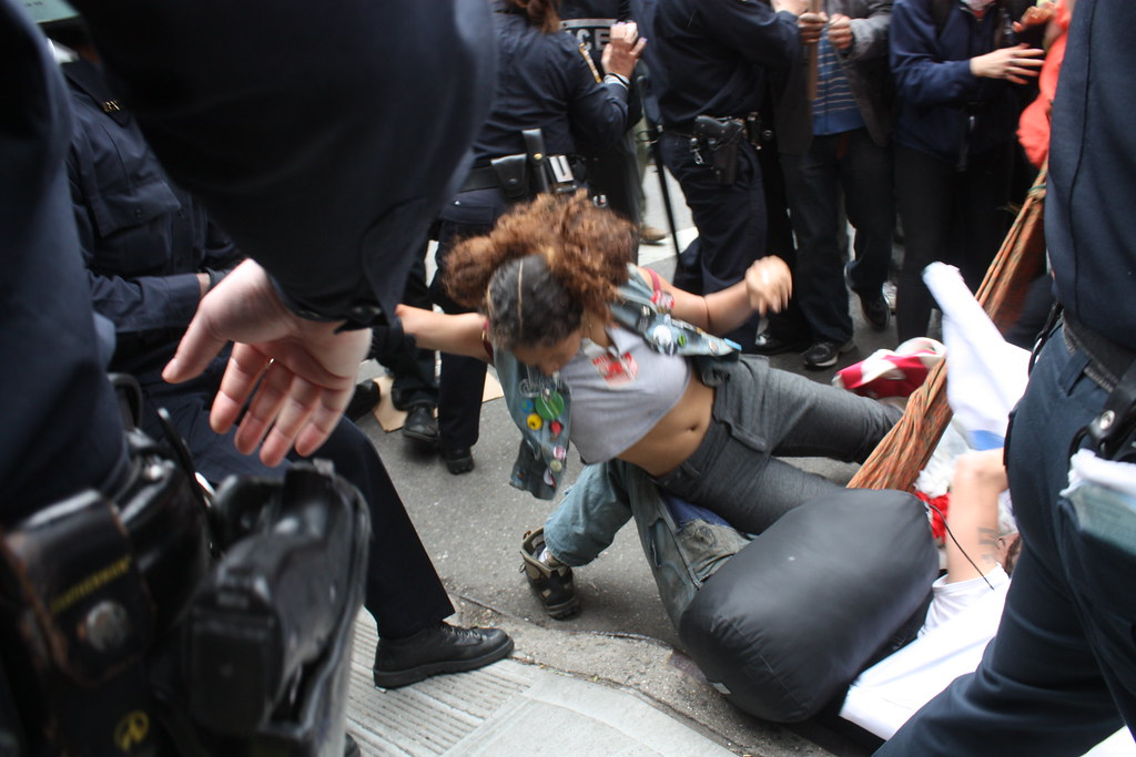 OWS - arrest part 1 | Protester named Mesiah is pulled by th