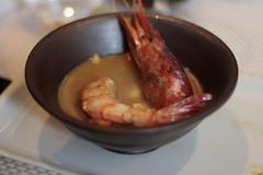 Chupe de Gamba Roja con verduras y tofu -  NIKKEI 225