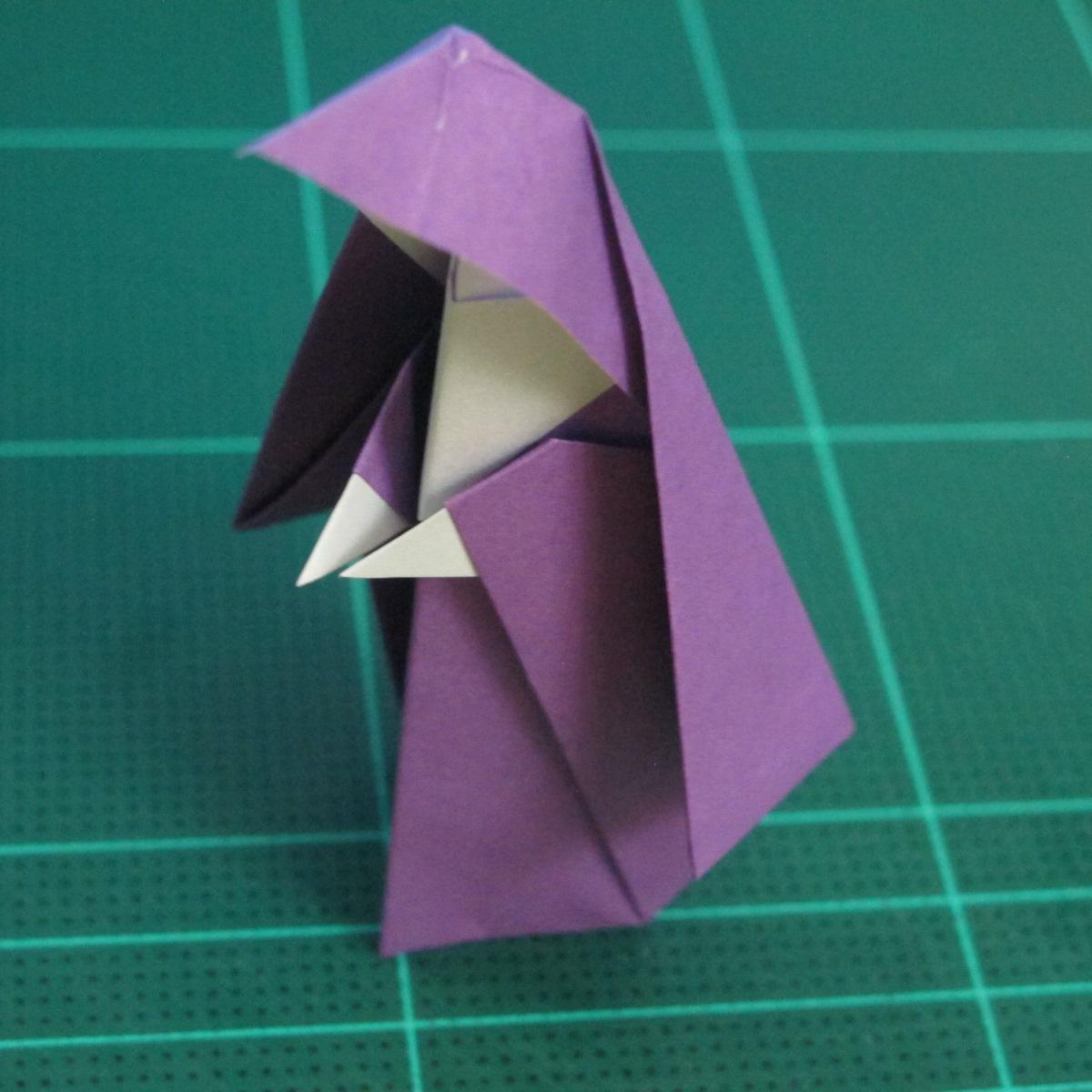 การพับกระดาษเป็นรูปแม่ชี (Origami Nun) 009
