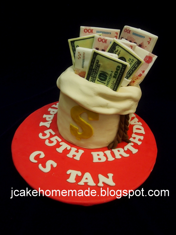 Miraculous Money Birthday Cake Happy 55Th Birthday Cs Tan Thanks Ver Flickr Funny Birthday Cards Online Alyptdamsfinfo