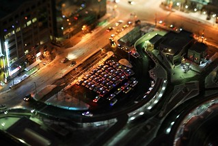 Nakayan's tilt-shift Japan-The taxi stand in front of Sapporo Station  箱庭 冬の札幌駅前のタクシー乗り場 | by pinboke_planet