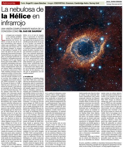 ZOCO Astronomía: La Nebulosa de la Hélice en infrarrojo | by Ángel López-Sánchez