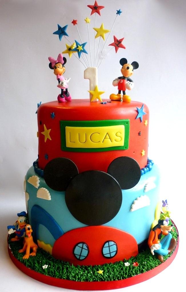 Sensational Mickey Mouse Clubhouse 1St Birthday Cake Swirlsbakery Flickr Funny Birthday Cards Online Overcheapnameinfo