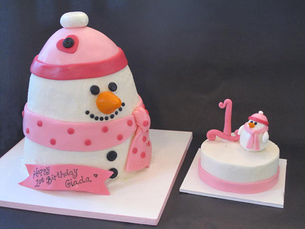 Stupendous 1St Birthday Snowman Cake Smash Cake Becky Currie Flickr Personalised Birthday Cards Petedlily Jamesorg