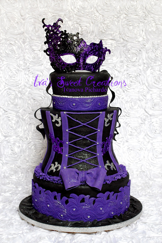 Amazing Masquerade Sweet Sixteen Cake Ivanova Flickr Funny Birthday Cards Online Alyptdamsfinfo