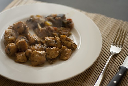 Chicken delicacies with mixed aromatic herbs of Provence and white wine   by Luca Nebuloni