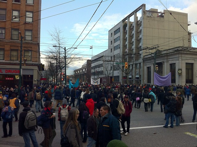 March turns onto Main from Hastings