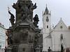Teplice – morový sloup a kostel Povýšení sv. kříže, foto: Petr Nejedlý