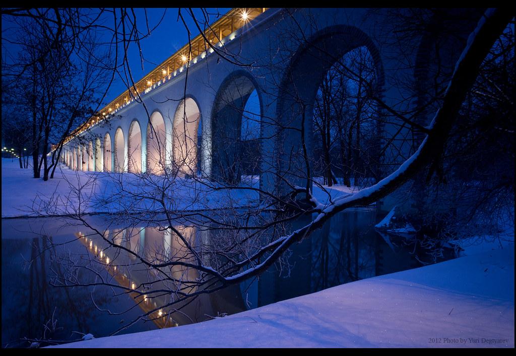 Moscow. Rostokinskiy aqueduct.