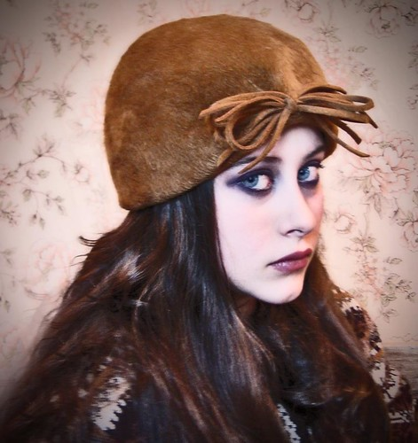 retro tan hat | by fantazya fantazies