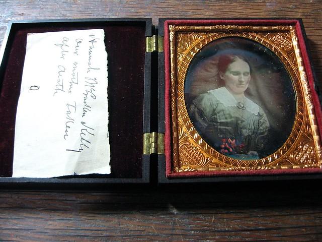 Hannah McCracken Kelly, Postmortem 1/6th-Plate Daguerreotype, Circa 1858