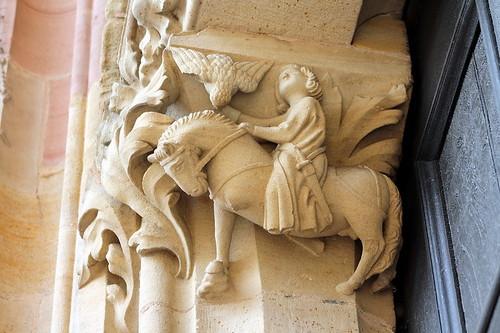 Worms. Catedral. Caçador amb falcó | by Pilar Torres