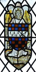 angel with heraldic shield
