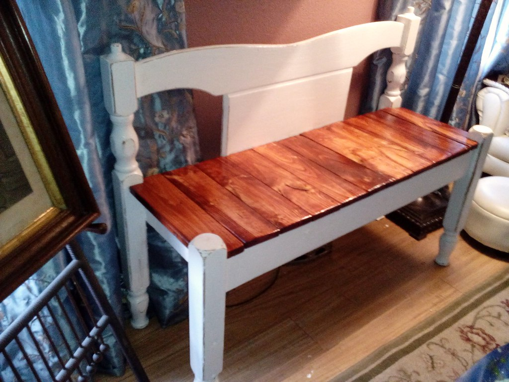 Admirable Bench Made From A Vintage Bed Headboard And Footboard Flickr Short Links Chair Design For Home Short Linksinfo