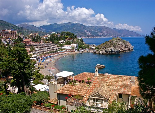 sea italy island coast mediterranean sicily isolabella taromina