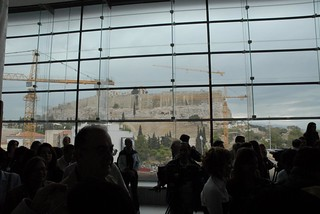 Cranes to move the first sculpture to the New Acropolis Museum | by elginism