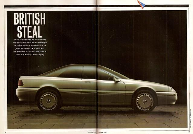 Rover CCV 800 Coupe Concept Car Feature 1986 (1)