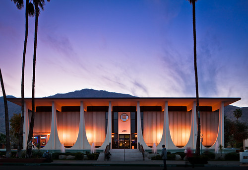 lighting blue sunset building architecture modern night dark concrete evening design soleil cityscape arch williams desert dusk coucher illumination bank canyon palm architect stewart springs valley hour utopian coachella fountains financial parabolic modernist beton brutalist midcentury postwar brut mcm paraboloid