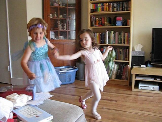 Milo and Zoe dancing