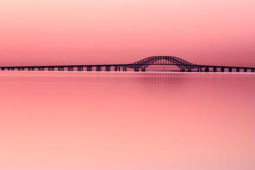 longexposure morning bridge pink sunrise canon eos li peaceful longisland april babylon 2012 xsi 100400 robertmosescauseway ef100400l 450d