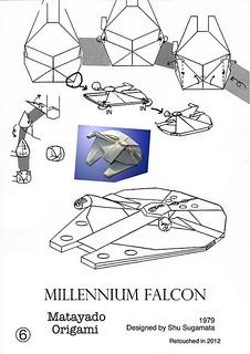 Millennium Falcon origami diagram 4 | by Matayado-titi