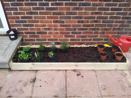 Raised bed filled with compost and ready for planting | by lilspikey