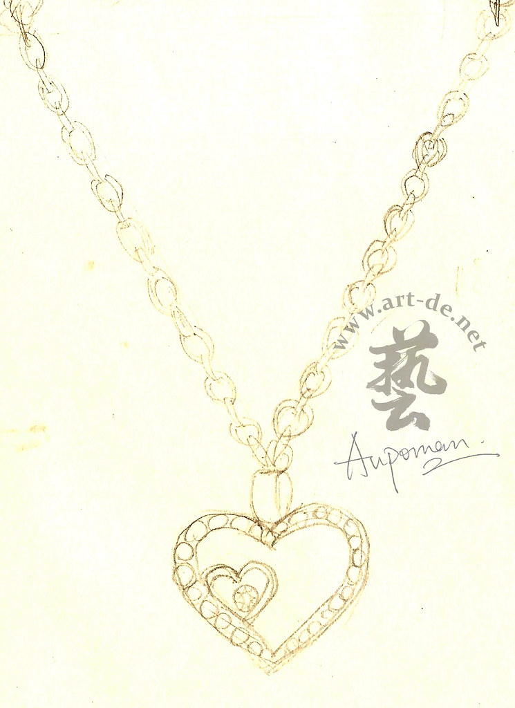Jewelry Design Sketch Heart Pendant Jewelry Design Drawin Flickr