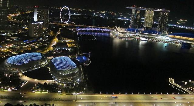 Marina Bay Night Kite Aerial Photography