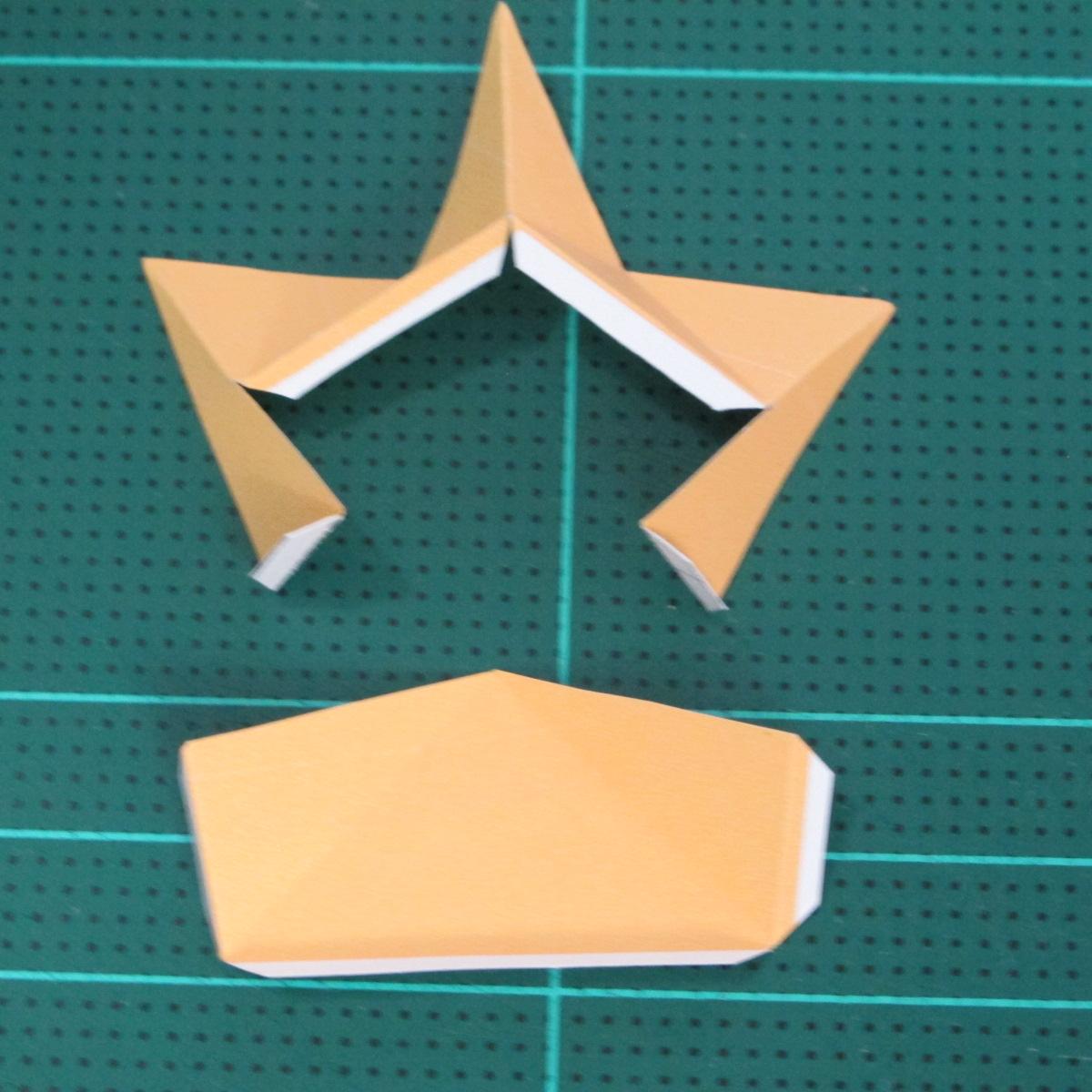 วิธีทำโมเดลกระดาษตุ้กตาสัตว์เลี้ยง หยดทองจากเกมส์ คุกกี้รัน (LINE Cookie Run Gold Drop Papercraft Model - クッキーラン  「黄金ドロップ」 ペーパークラフト) 007