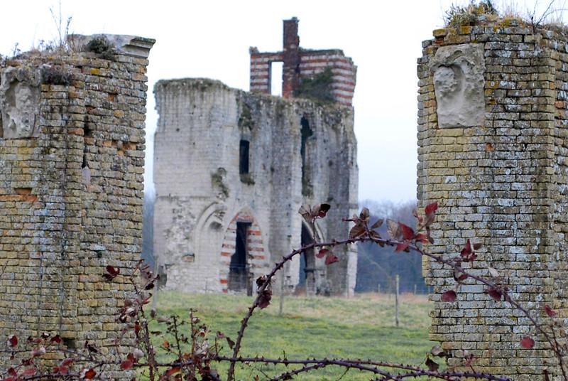 vestiges de l'abbaye de Clairmarais