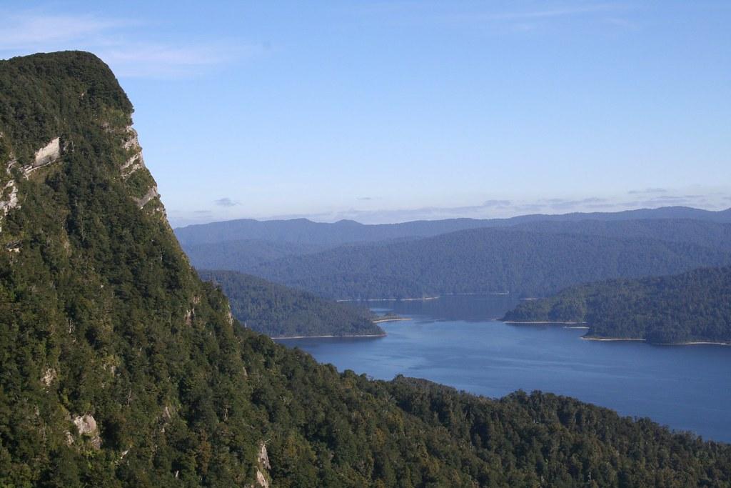 Panekire Bluff - Lake Waikaremoana Great Walk   Panoramic vi