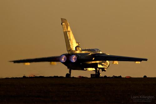 sunset raw aircraft aviation military sony explore alpha bae tornado raf panavia 078 gr4 marham a65 zd709 tarnish20