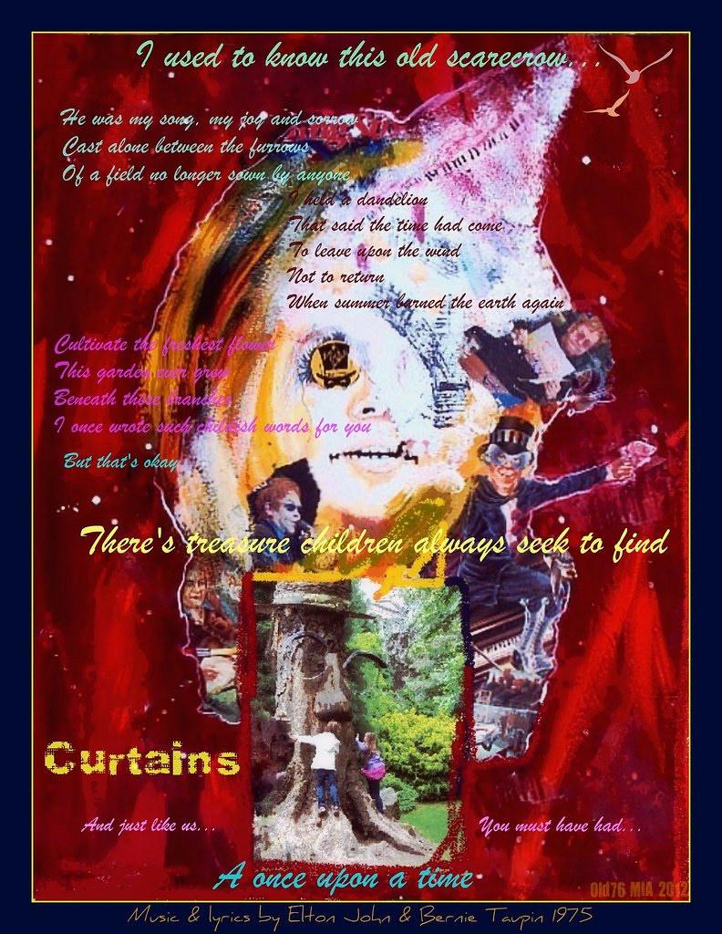 Curtains | Old76 Music-inspired Art 2012 Elton John Songs Il