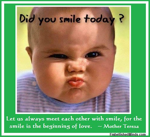 Love Quotes Baby Smile By Mother Terresa Love Quotes B Flickr