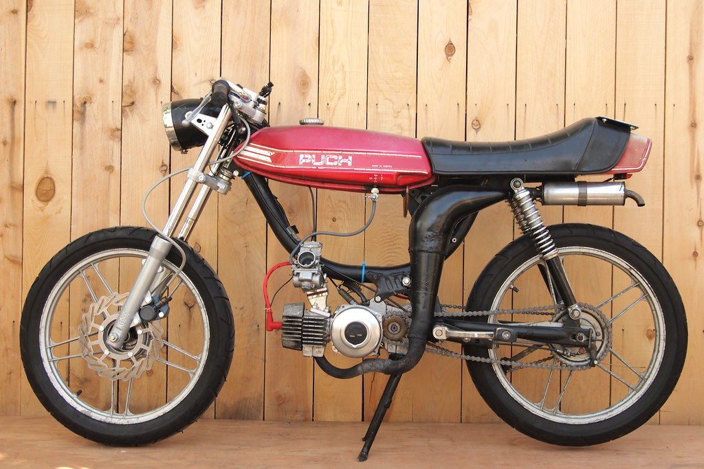 Puch Magnum | heavily modified ZA50 2-speed automatic engine