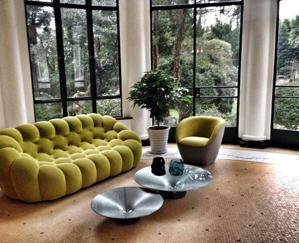 Bubble Sofa Roche Bobois a green color scheme and bubble sofa are the perfect setti