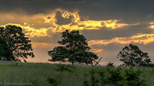 trees clouds sunrise landscape virginia background shenandoah bigmeadows landscapemountain