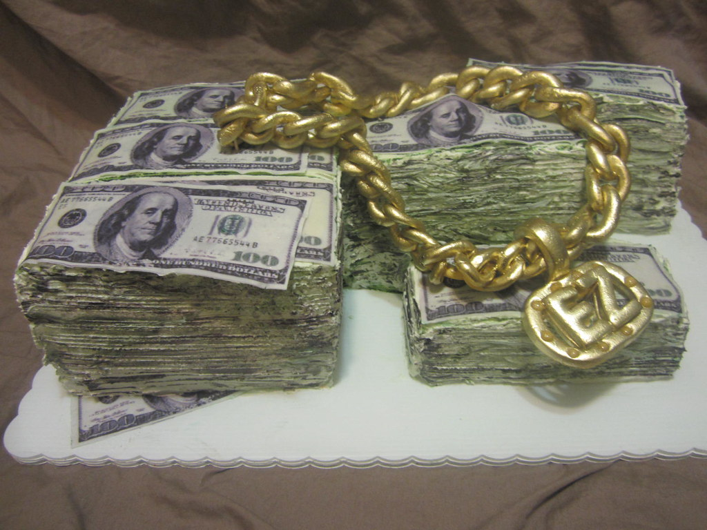 Money Cake With Edible Chain The Make Money Cake Flickr