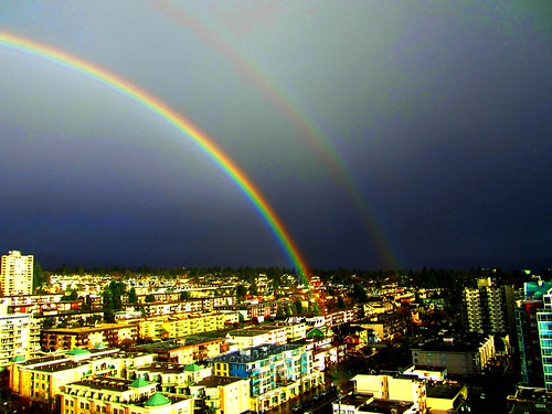 Brilliant double rainbow after a sudden rainstorm (explore) | by Peggy2012CREATIVELENZ