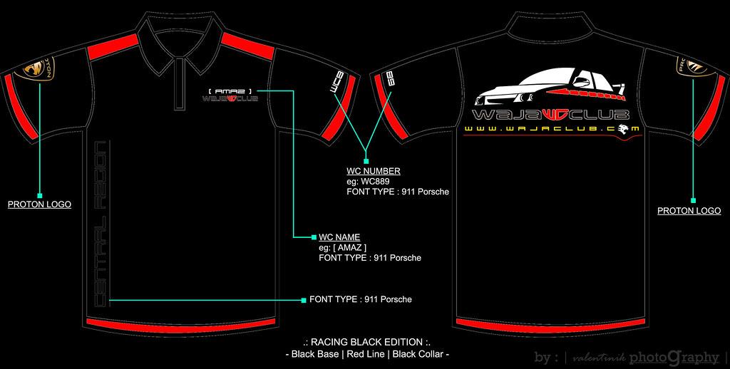 WajaClub Polo T Shirt Design 3 - Racing Black Edition | Flickr