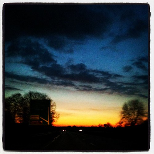 road sunset sky square dusk lofi squareformat iphoneography instagramapp uploaded:by=instagram foursquare:venue=4e23440c628469a57428c4a1