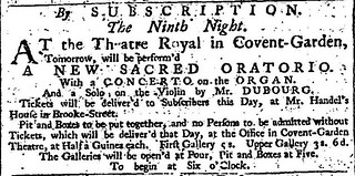 23rd March 1743 - First performance of The Messiah by Handel | by Bradford Timeline