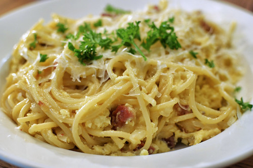 Mmm... spaghetti carbonara | by jeffreyw