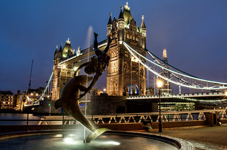 Girl with a dolphin, Tower Bridge | by raphael.chekroun