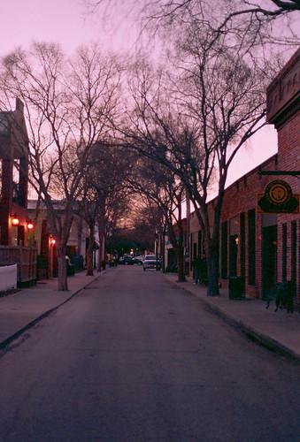 sunset film 35mm alley southcarolina expired aiken nikonfe2 kodakmax